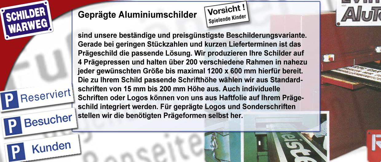 Aluminium-Prägeschilder