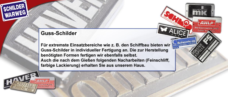 Guss-Schilder