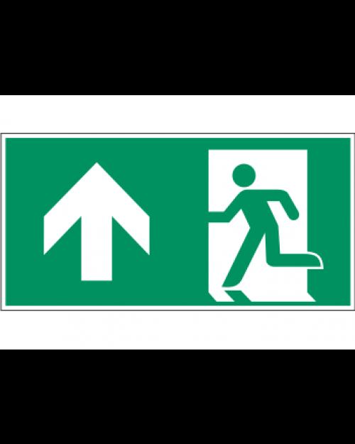 Fluchtwegzeichen: Notausgang oben (links), Best. Nr. 3609