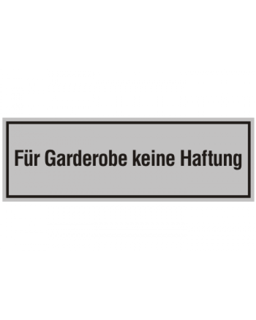 innenschild f r gaderobe keine haftung. Black Bedroom Furniture Sets. Home Design Ideas
