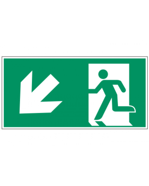Fluchtwegzeichen: Rettungsweg Treppe runter links, Best. Nr. 3605