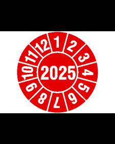 "selbstklebende Folie, grot/weiß, Jahreszahl ""2025"", ø 30 mm, Best.-Nr. 4319"