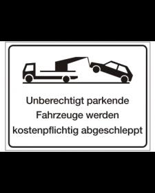 Verkehrszusatzschild: Abschleppschild, weiß/schwarz, Best. Nr. 4106