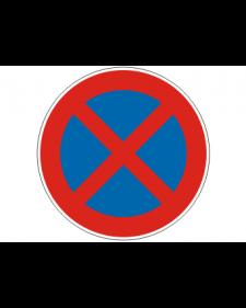 Verkehrsschild: Absolutes Haltverbot, Bild‑Nr.283, blau/rot, Best.‑Nr.4080