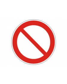 Verbotsschild: Verbotsschild, frei beschriftbar, Best. Nr. 3401