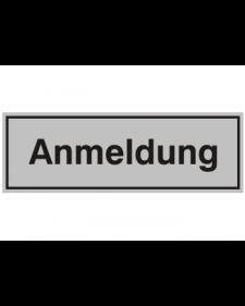 Innenschild: Anmeldung, Aluminium, selbstklebend, 150 x 50 mm, Best. Nr. 3012