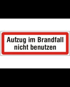 Brandschutzschild: Aufzug im Brandfall nicht benutzen, Best. Nr. 3752