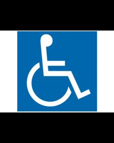 Parkplatzbeschilderung: Behindertensymbol, blau/weiß, Best. Nr. 3300