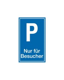 Parkplatzbeschilderung: Besucherparkplatz, blau/weiß, Best. Nr. 3303