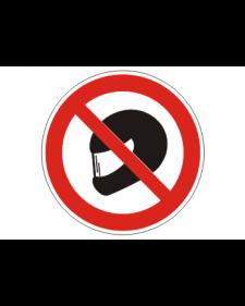 """Verbotsschild """"Betreten mit Helm verboten"""", Best.‑Nr.3430"""