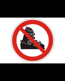 """Verbotsschild """"Betreten mit Skischuhen verboten"""", Best.‑Nr.3434"""