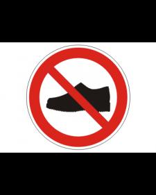 """Verbotsschild """"Betreten mit Straßenschuhen verboten"""", Best.‑Nr.3431"""