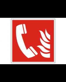 Brandschutzschild: Brandmeldertelefon, Best. Nr. 3705