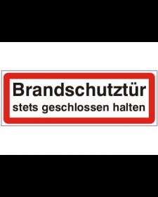 Brandschutzschild: Brandschutztür, Best. Nr. 3754