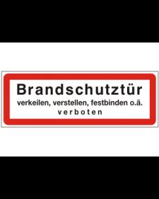 Brandschutzschild: Brandschutztür, Best. Nr. 3755