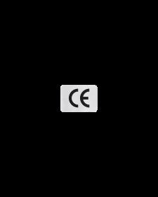 CE - Zeichen, Folie, selbstklebend, silber / schwarz, 18 x 13 mm