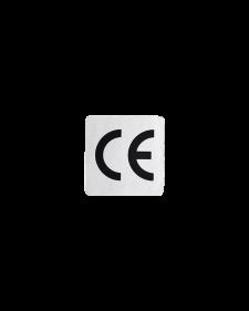 CE-Zeichen, Folie, selbstklebend, silber/schwarz, 25x25mm, Best.-Nr.4644