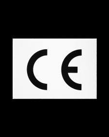 CE-Zeichen, Folie, 60x45mm, weiß/schwarz, selbstklebend, Best.-Nr.4647