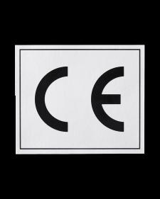 CE-Zeichen, Folie, 65x55mm, silber/schwarz, selbstklebend, Best.-Nr.4646