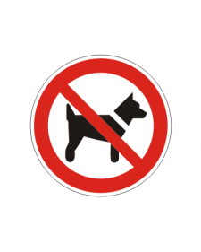 Verbotsschild: Das Mitführen von Hunden ist verboten, Best.‑Nr.3151