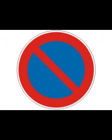 Verkehrsschild: Eingeschränktes Haltverbot, Bild‑Nr.286, blau/rot, Best.‑Nr.4081
