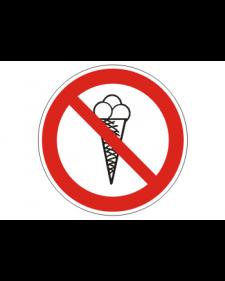 """Verbotsschild """"Betreten mit Eis verboten"""""""