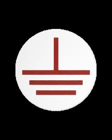 Erdungszeichen, Klebefolie, 10 - 60 mm ø, weiß/schwarz oder weiß/rot,  Best.-Nr. 4621