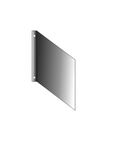 Fahnenschild, Aluminium roh, 2mmstark, mit Bohrungen, Best.‑Nr.3710