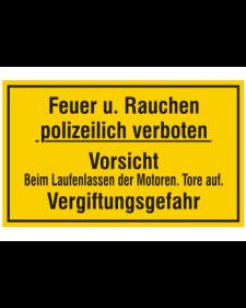 Schild: Feuer u. Rauchen polizeilich verboten, Best. Nr. 3477