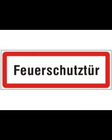 Brandschutzschild: Feuerschutztür, Best. Nr. 3750