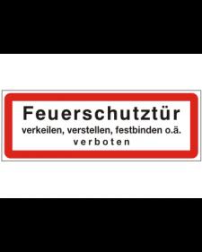 Brandschutzschild: Feuerschutztür, Best. Nr. 3751