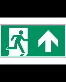 Fluchtwegzeichen: Notausgang oben (rechts), Best. Nr. 3608