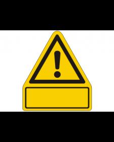 Warnschild: Warnung vor einer Gefahrenstelle, mit frei zu beschriftender Zusatzfläche, Best. Nr. 3811