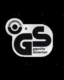 GS-Zeichen, Folie, 60x48mm, silber/schwarz, selbstklebend, Best.-Nr.4655