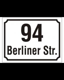 Hausnummern, mit Schriftzug, Präge, Best. Nr. 3202