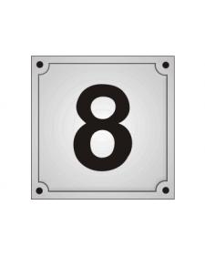 Hausnummern, Schild, Emaille, frei beschriftbar, Best. Nr. 3210