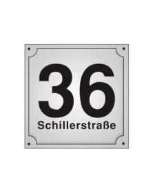 Hausnummern, Schild, Emaille, frei beschriftbar, Best. Nr. 3211