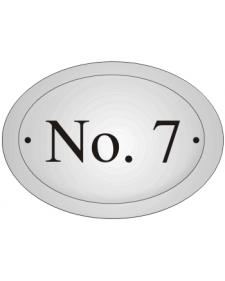 Hausnummern, Schild, frei beschriftbar, Emaille, gewölbt, oval, Best. Nr. 3215