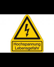 Warnschild: Warnung vor gefährlicher elektrischer Spannung, Best. Nr. 3812