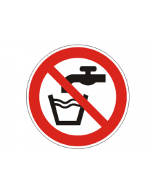 Verbotsschild: Kein Trinkwasser, Best.Nr.-3414