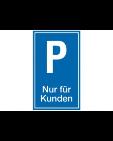 Parkplatzbeschilderung: Kundenparkplatz, blau/weiß, Best. Nr. 3302