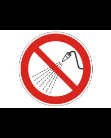 Verbotsschild: Mit Wasser spritzen verboten, Best.Nr.-3427