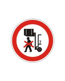 Verbotsschild: Nicht unter angehobene Last treten, Best. Nr. 3408