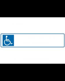 Parkplatzbeschilderung: Parkplatzschild, weiß/blau, mit Freifläche für Wunschtext, Präge, 520x110mm, Best. Nr. 3314