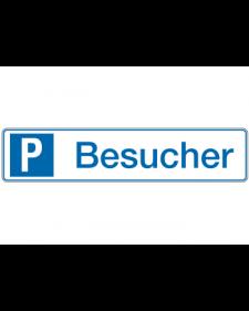 Parkplatzbeschilderung: Besucher, weiß/blau, Präge, 520 x 110 mm, Best. Nr. 3311