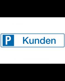 Parkplatzbeschilderung: Kunden, weiß/blau, Präge, 520 x 110 mm, Best. Nr. 3313