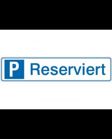 Parkplatzbeschilderung: Reserviert, weiß/blau, Präge, 520 x 110 mm, Best. Nr. 3312