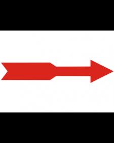 Warnmarkierung: Richtungspfeil, Folie, rot, Best. Nr. 4361