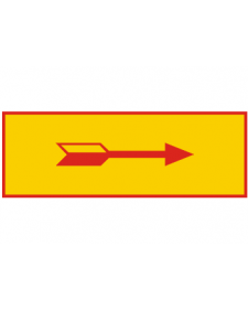 Warnmarkierungen: Richtungspfeil, gelb/rot, Folie, 60 x 20 mm, Best. Nr. 4364