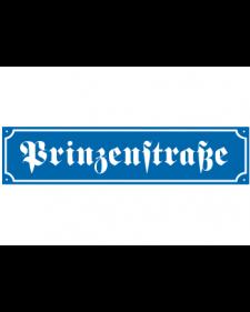 Straßennamenschild, Emaille, frei beschriftbar, Höhe148mm, Best.‑Nr.4150